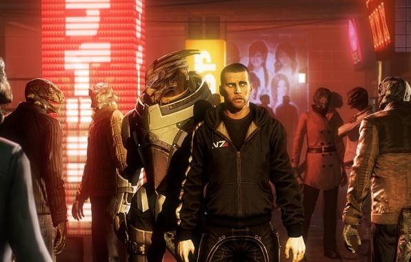 Картинка mass effect, Shepard, Spectre, Garrus Vakarian, Гаррус Вакариан, турианец, Archangel, turian, Turian Agent, N7 Alliance …