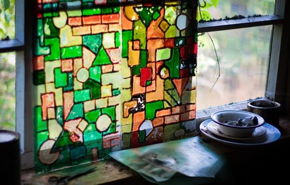 Картинка цвета, мозайка, хлам