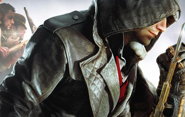 Картинка капюшон, банда, Ubisoft, клинок, убийцы, ассасины, Assassin's Creed: Syndicate, Джейкоб Фрай, Jacob Frye