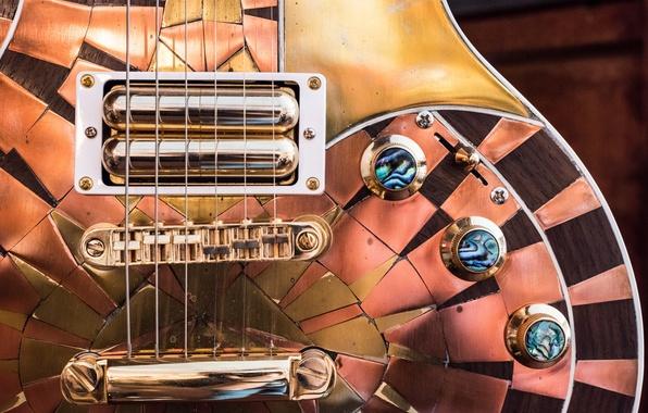 Фото обои макро, электрогитара, гитара