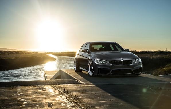 Картинка BMW, Carbon, Front, Black, Sun, Matte, F80, Mode