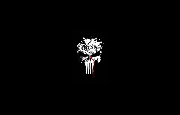 Картинка кровь, череп, skull, blood, the punisher, fon