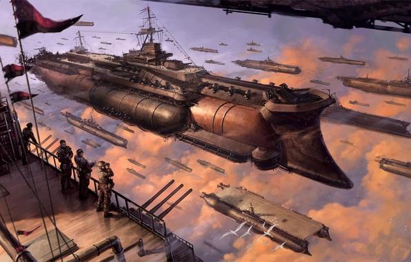 Картинка корабли, воздух, флот