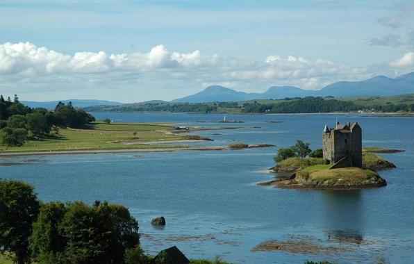 Картинка река, замок, остров, англия, британия, stalker, river, сталкер, великобритания, island, England, castle, Great britain
