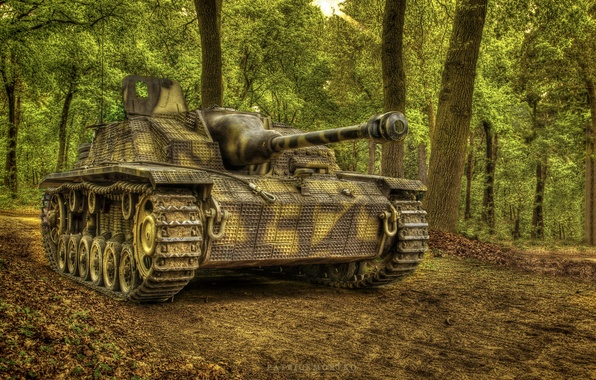 Картинка войны, орудие, StuG III, мировой, Второй, времён, штурмовое, Ausf G