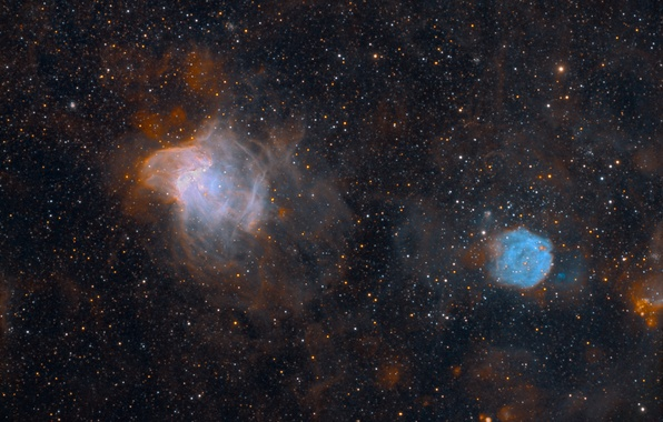 Фото обои туманности, звезды, космос, NGC 371, NGC 346