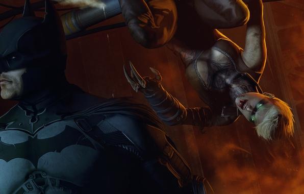 Картинка девушка, batman, герой, костюм, злодей, dc comics, fan art, Batman: Arkham Origins, arkham origins, copperhead