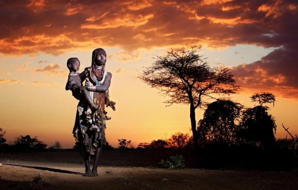 Картинка африка, коренные жители, Mother and child