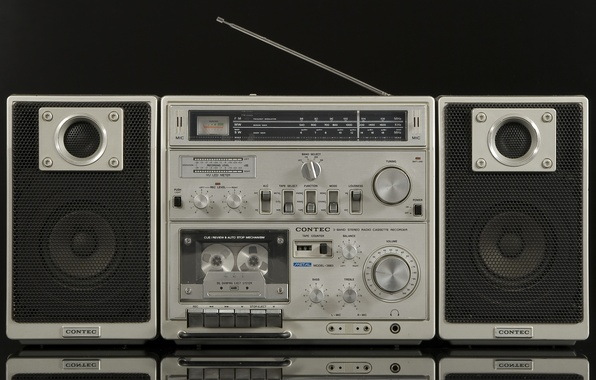 Картинка ретро, классика, магнитофон, Contec 3883
