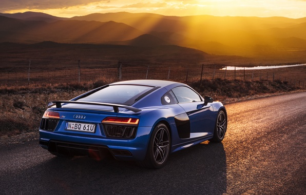 Картинка дорога, лучи, свет, Audi, ауди, автомобиль, V10, Plus