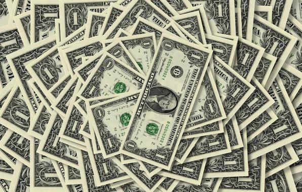 Картинка фон, один, деньги, доллар, купюры, количество, достоинство