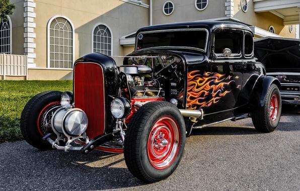 Картинка ретро, Ford, классика, 1932 Ford 5-Window Coupe