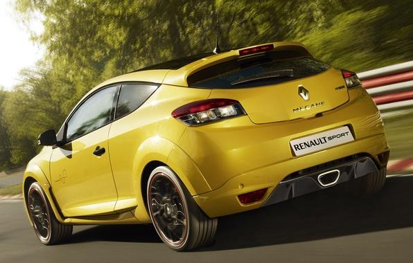 Картинка Спорт, Машина, Гонка, Движение, Renault, Меган, Car, Race, Жёлтый, Автомобиль, Рено, Cars, Yellow, Sport, Гоночный ...