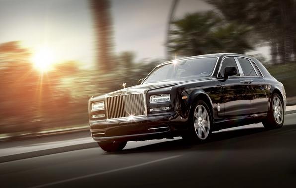 Картинка Phantom, Rolls Royce, black, front, luxury