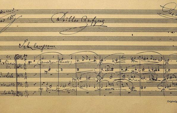 Фото обои ноты, Германия, Бавария, музей, Ричард Вагнер, партитура, Байройт, опера Парсифаль