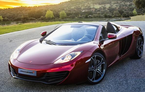 Картинка McLaren, Красный, Машина, Макларен, Red, Car, 2012, Автомобиль, Beautiful, Spyder, Новый, MP4-12C, Wallpapers, New, Красивая, …