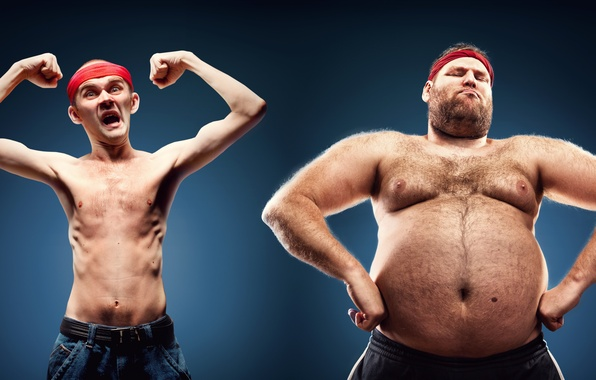 Фото обои fat, ectomorphic constitution, poses, skinny