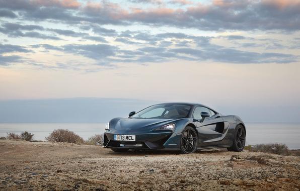 Картинка car, авто, небо, McLaren, wallpaper, суперкар, beautiful, передок, 570GT
