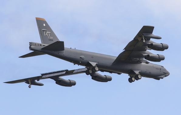 Картинка Boeing, бомбардировщик, стратегический, тяжёлый, Stratofortress, B-52H
