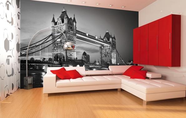 Обои интерьер стиль дизайн комната
