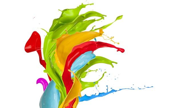 Картинка капли, брызги, краска, colors, design, splash, paint