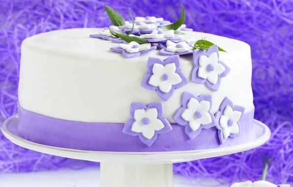 Картинка выпечка, тортик, сахарные цветочки