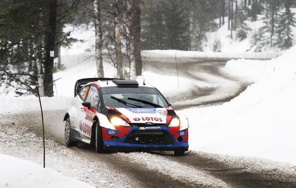 Картинка Ford, Зима, Авто, Снег, Лес, Спорт, Форд, Гонка, WRC, Rally, Ралли, Fiesta