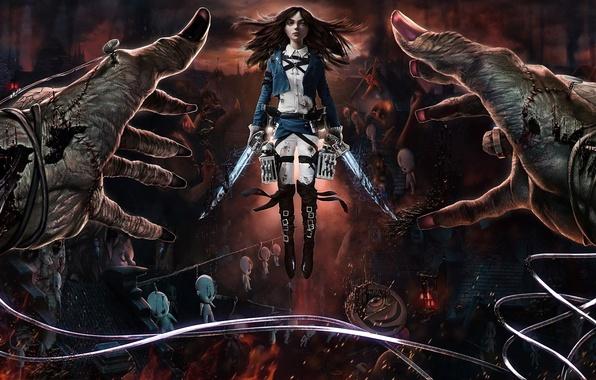 Картинка crossover, alice, madness returns, Alice: Madness Returns, Attack on Titan, Shingeki no Kyojin