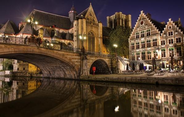 Картинка мост, Belgium, Gent