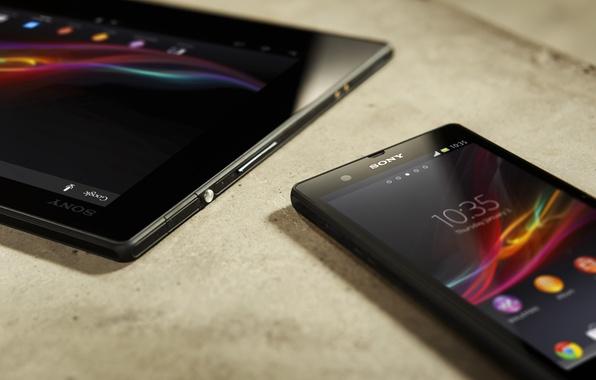 Картинка телефон, планшет, sony, xperia, tablet