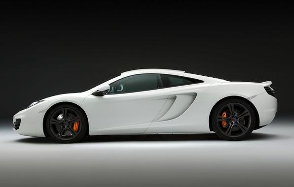 Картинка McLaren, white, cars, auto, cars walls, Supercars, race car, McLaren MP4-12C, Supercar