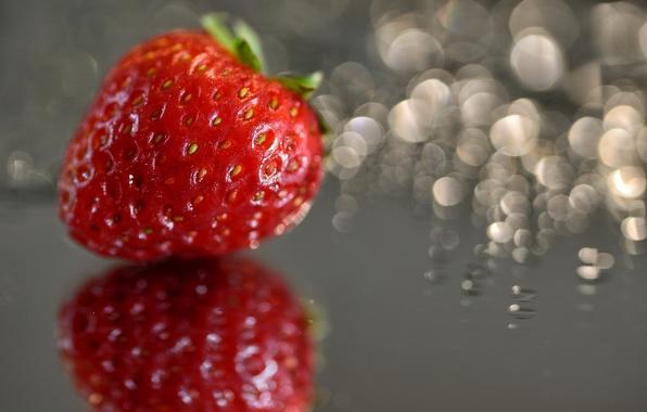 Картинка макро, земляника, клубника, ягода