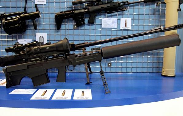 Картинка металл, оружие, мощь, прицел, винтовка, магазин, глушитель, СИЛА, снайперская, поражение, разработка, или, патронов, коробчатый, специальная, …