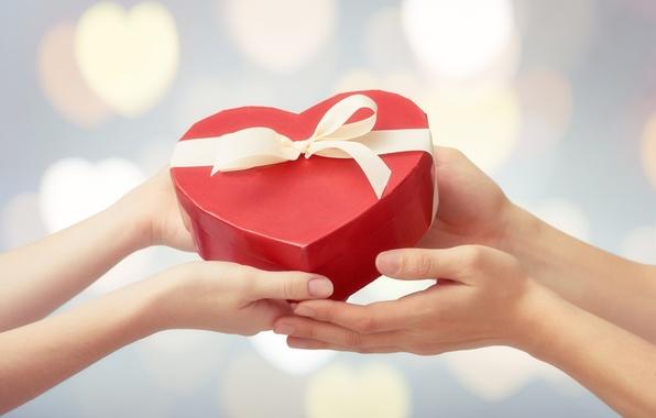 Фото обои сердце, love, heart, любовь, gift, romantic