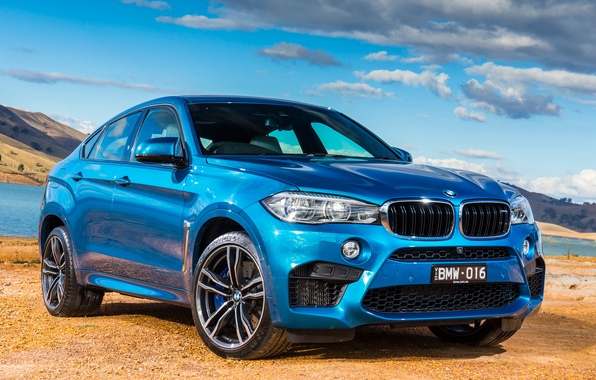 Картинка бмв, BMW, F16, AU-spec, 2015, X6 M