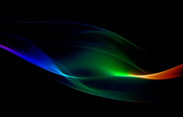 Картинка свет, дым, волна, цвет, газ, полумрак