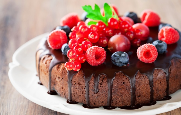 Картинка ягоды, малина, шоколад, клубника, торт, cake, десерт, смородина, выпечка, сладкое, sweet, dessert, berries