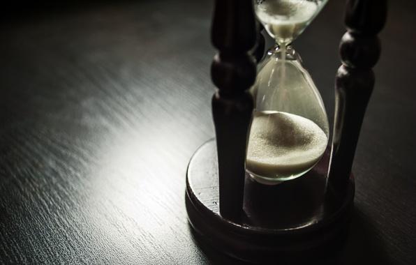 Картинка wood, sand, time, hourglass