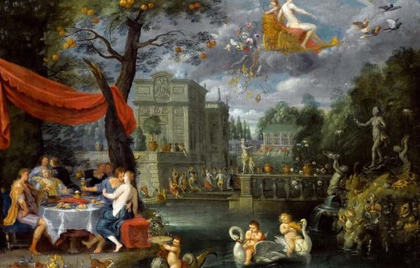 Картинка картина, Ян Брейгель младший, Аллегория Мира