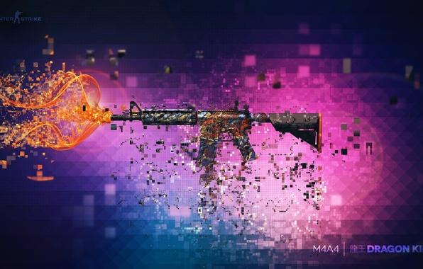 Картинка оружие, фон, Оружие, Gun, винтовка, штурмовая, Steam, Skin, Weapon, counter strike global offensive, cs go, …