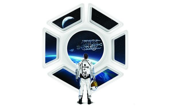 Картинка космос, звезды, земля, луна, белое, планета, космонавт, окно, шлем, космический корабль, 2K Games, Firaxis, Sid …