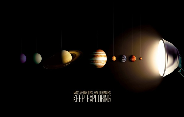 Картинка лампа, солнечная система, Planets