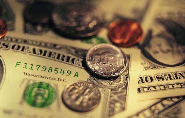 Картинка деньги, монеты, доллары