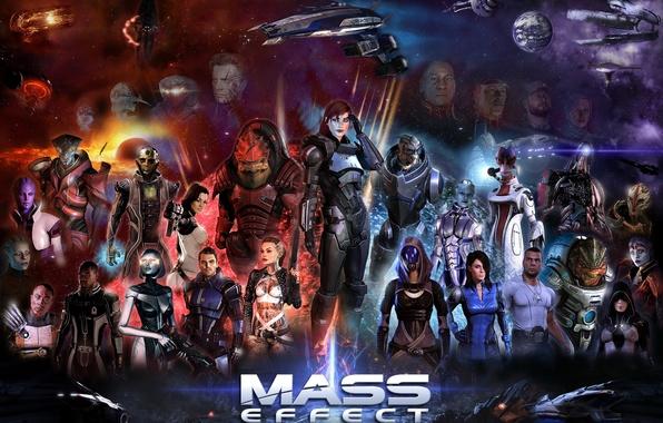 Картинка Miranda Lawson, Mass Effect, Legion, Shepard, Garrus Vakarian, Ashley Williams, Thane Krios, Jack, Kaidan Alenko, …