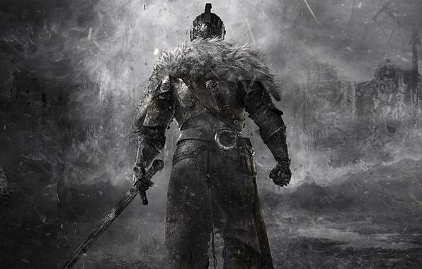 Картинка воин, мех, рыцарь, хардкор, Dark Souls, knight, тёмные души