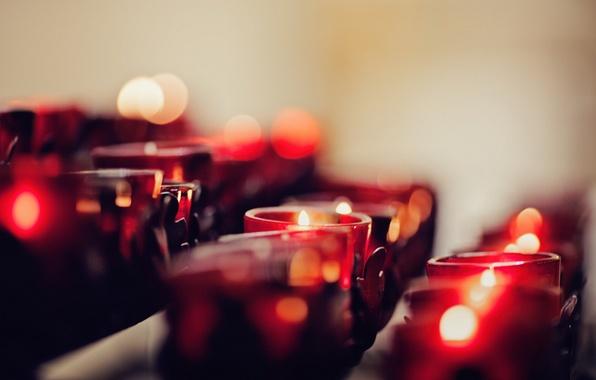Картинка макро, фон, свечи