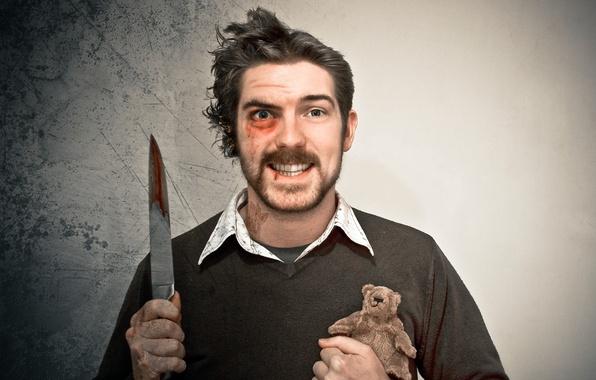 Картинка игрушка, нож, мужчина