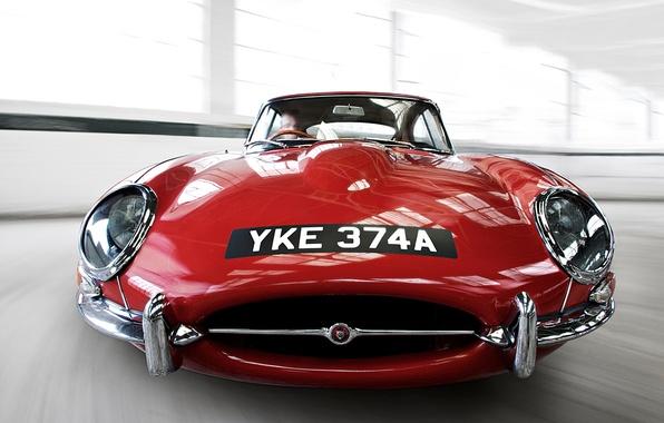 Картинка ретро, ягуар, автомобили, jaguar