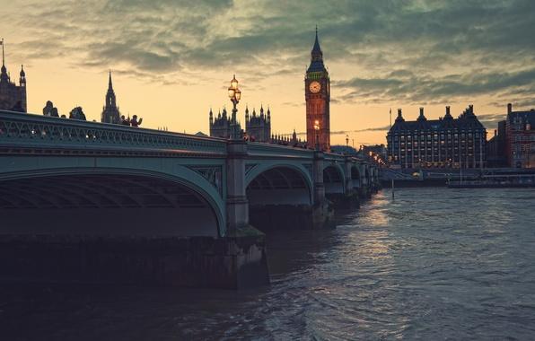 Картинка ночь, город, Лондон