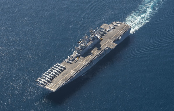 Картинка оружие, корабль, армия, amphibious assault ship, USS Makin Island (LHD 8)